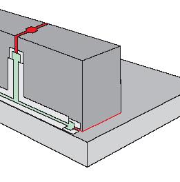 Герметизация шва металла с бетоном