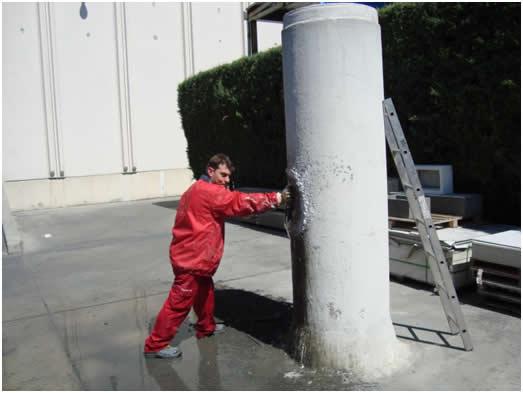 Гидропломба для заделки течей в бетоне